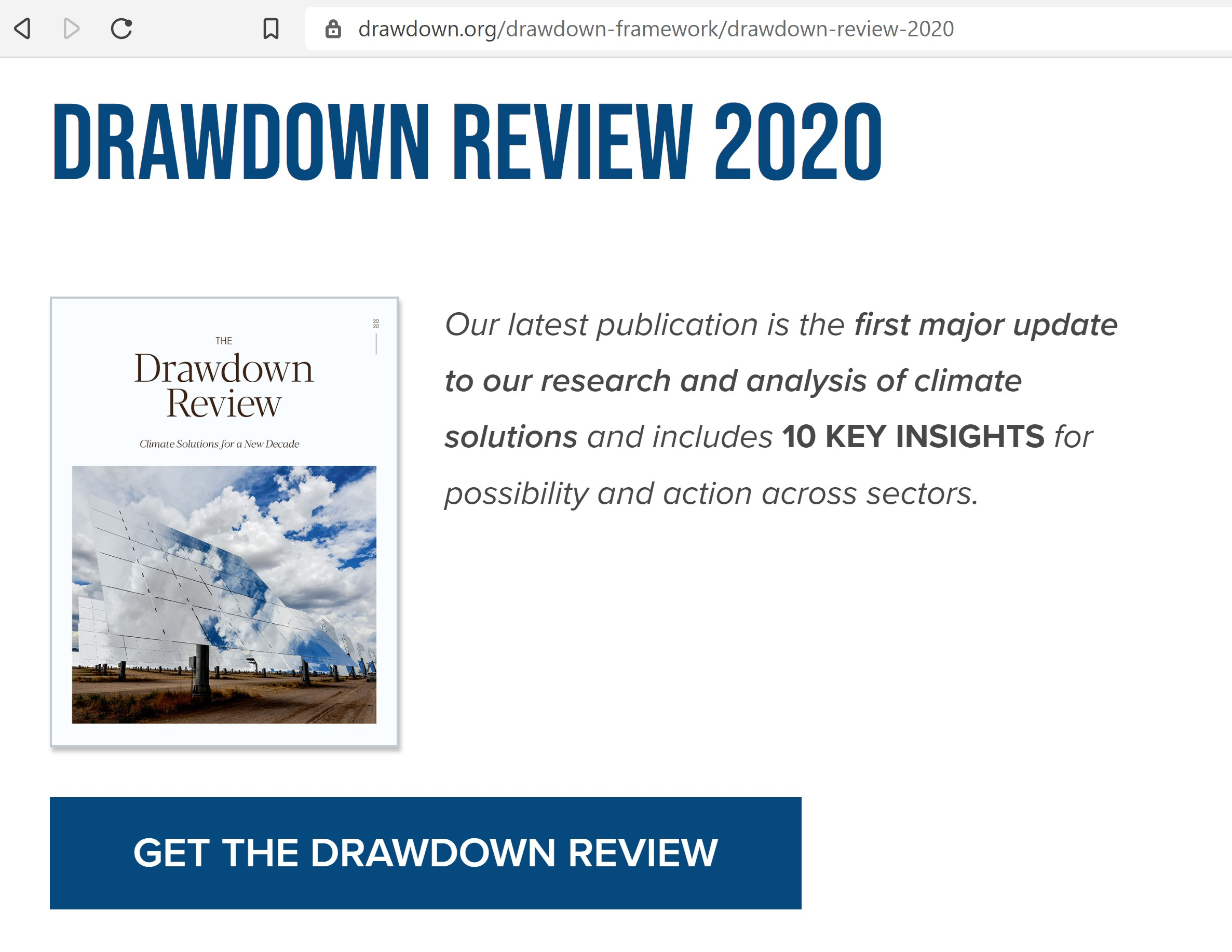 Drawdown 2020 Review